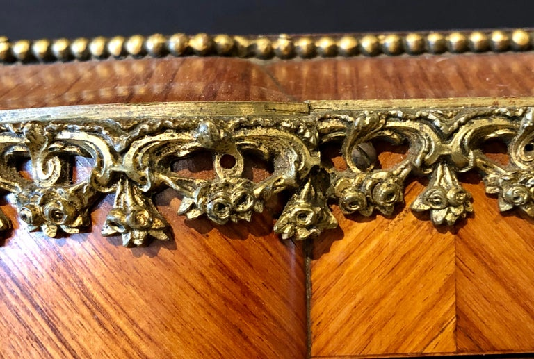 French Louis XV Style Gilt Metal Mounted Tantalus / Bar For Sale 11