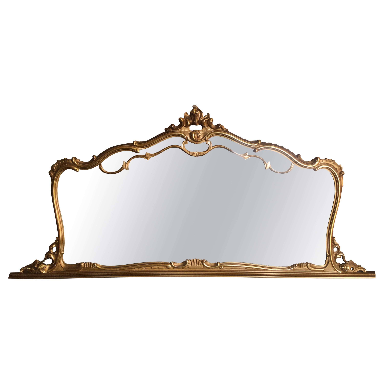 French Louis XV Style Gilt Mirror