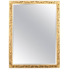 French Louis XV Style Gilt-wood Frame with Bevelled Mirror
