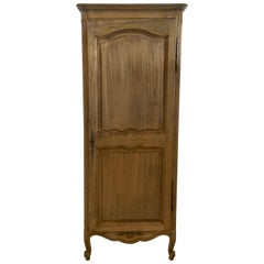 French Louis XV Style Homme Debout Bonnetiere Bleached in Walnut