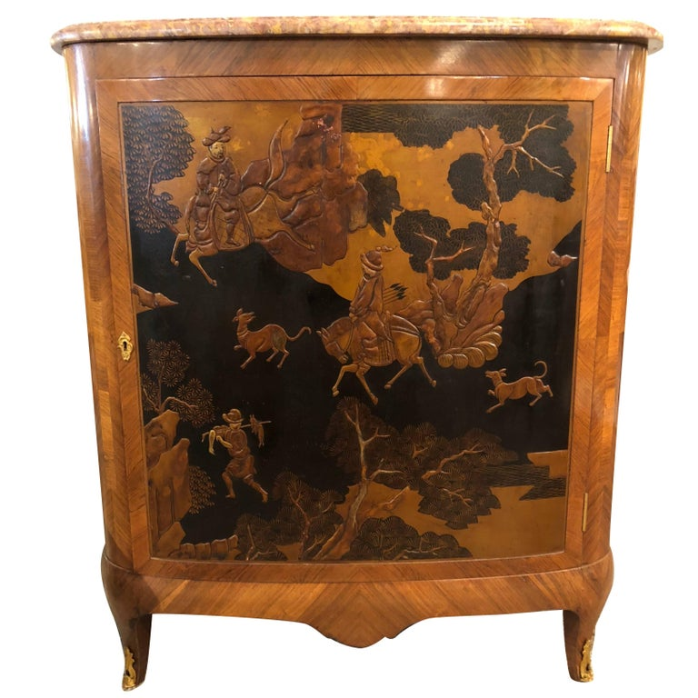 French Louis XV Style Kingwood Commode Manner of Jansen