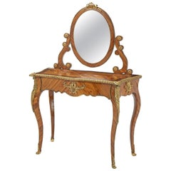 French Louis XV-Style Kingwood Console, 19th Century