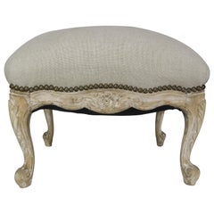 French Louis XV Style Linen Bench, circa 1900