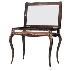French Louis XV Style Mahogany and Bronze Trimmed Vitrine