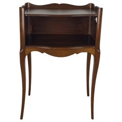 French Louis XV Style Mahogany Side Table or Nightstand