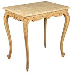 French Louis XV Style Marble-Top Table