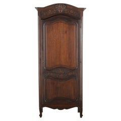 French Louis XV Style Oak Bonnetiere Armoire