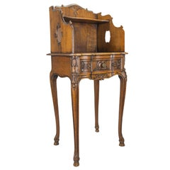 French Louis XV Style Oakwood Nightstand or Side Table