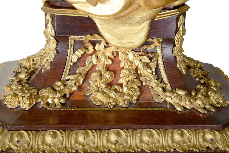 French Louis XV Style Ormolu Grandfather Clock For Sale 6