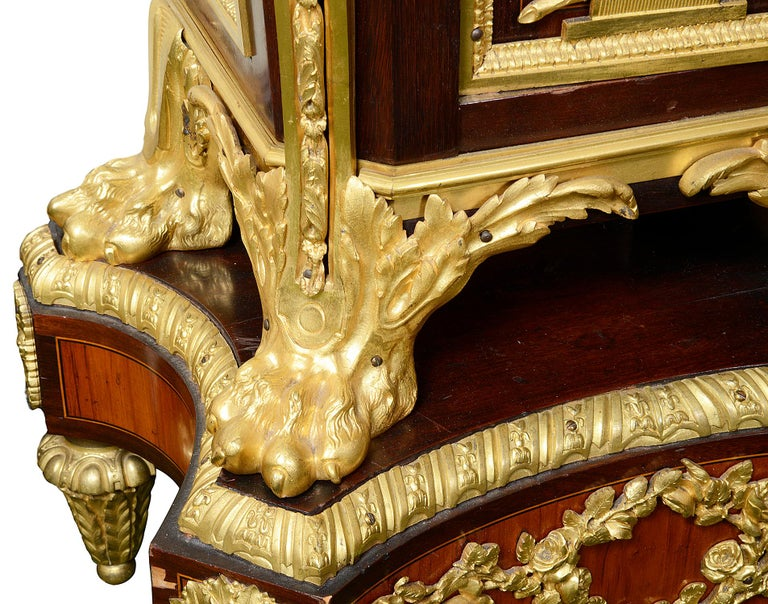 19th Century French Louis XV Style Ormolu Grandfather Clock For Sale