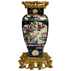 French Louis XV Style Ormolu-Mounted Chinese Imari Porcelain Vase