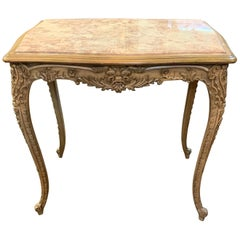 French Louis XV Style Painted and Lacquered Salon Table