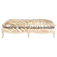 French Louis XV Style Painted Bench or Daybed, circa 1920