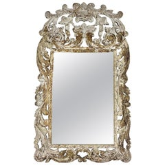 French Louis XV Style Painted Mirror