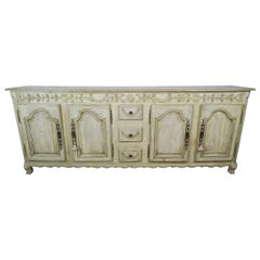French Louis XV Style Painted Sideboard, circa 1900s