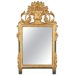 French Louis XV Style Parcel-Gilt Mirror