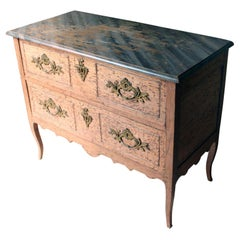 French Louis XV Style Period Painted Pine Commode, circa 1890