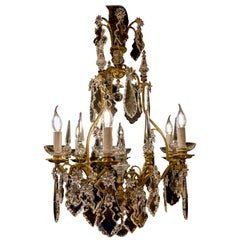 French Louis XV Style, Gilt-Bronze and Crystal Chandelier, circa 1900-1920