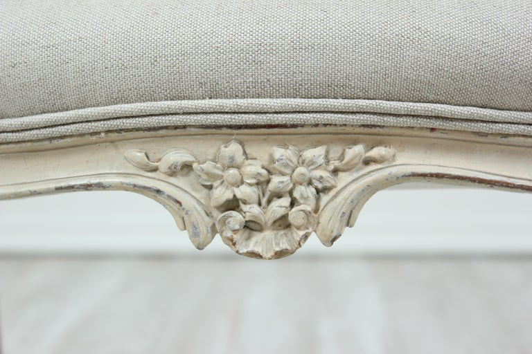 Upholstery French Louis XV Style Bench For Sale