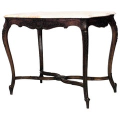 French, Louis XV Style Walnut End Table