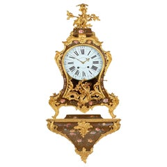 French Louis XV Wall Clock, circa 1760