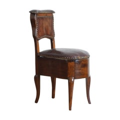 "French Louis XV Walnut and Leather ""Le Confident de ses Dames"", Mid-18th Century"