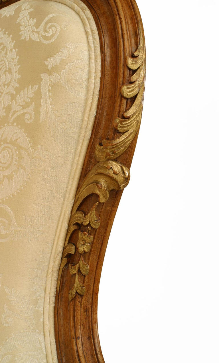 French Louis XV Walnut Bergere Armchair For Sale 1