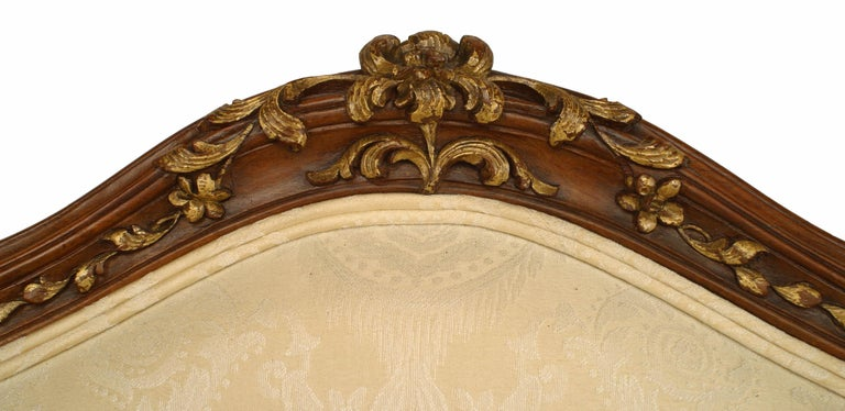 French Louis XV Walnut Bergere Armchair For Sale 2