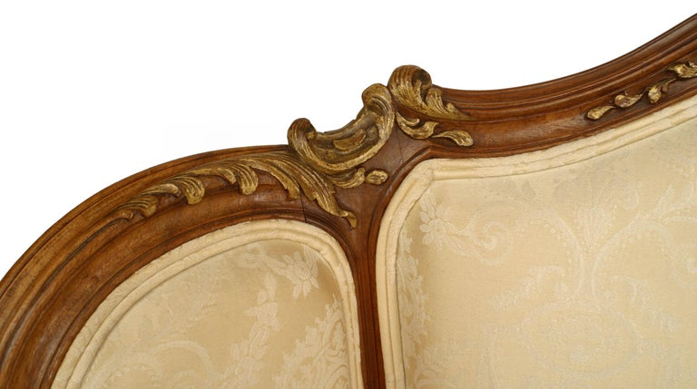 French Louis XV Walnut Bergere Armchair For Sale 3