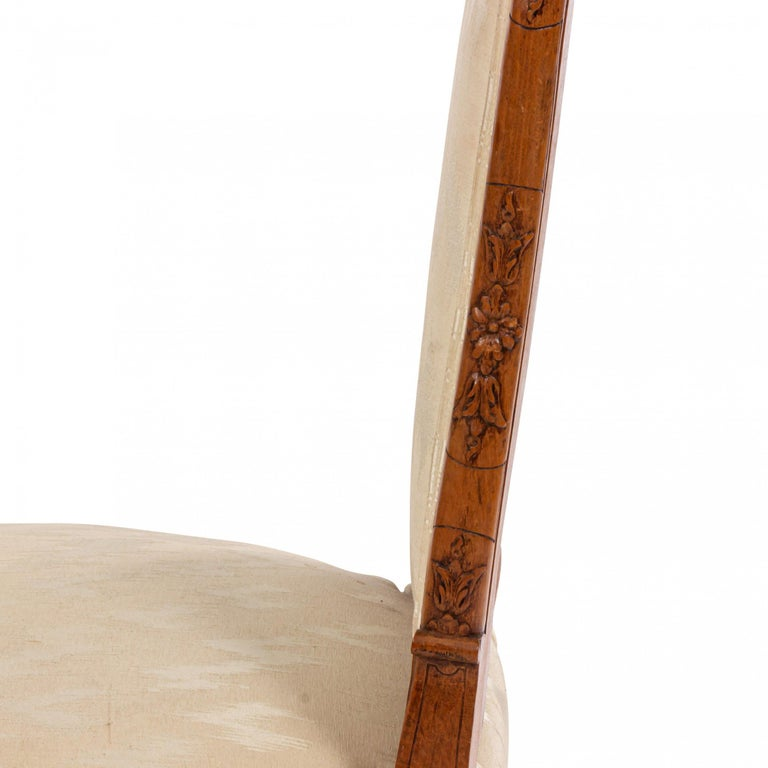 French Louis XV Walnut Side Chairs For Sale 6
