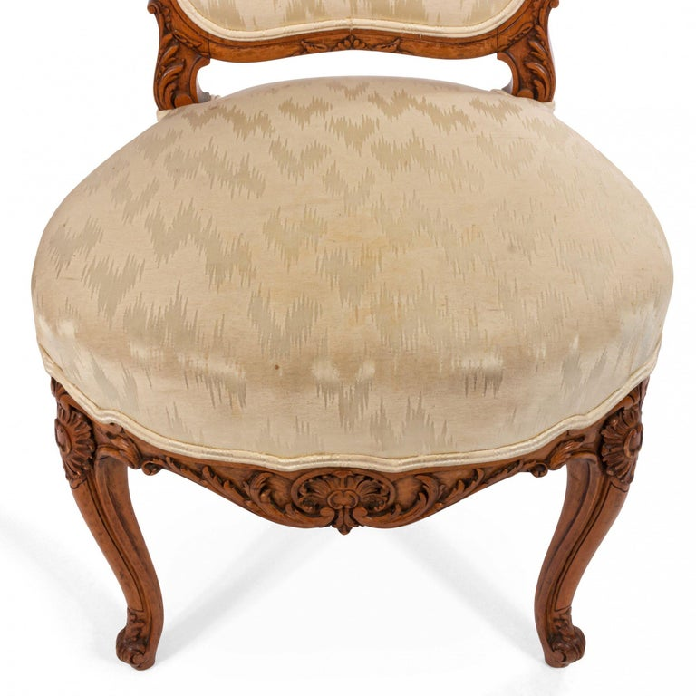 French Louis XV Walnut Side Chairs For Sale 7