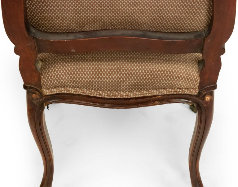 French Louis XV Walnut Side Chairs For Sale 10