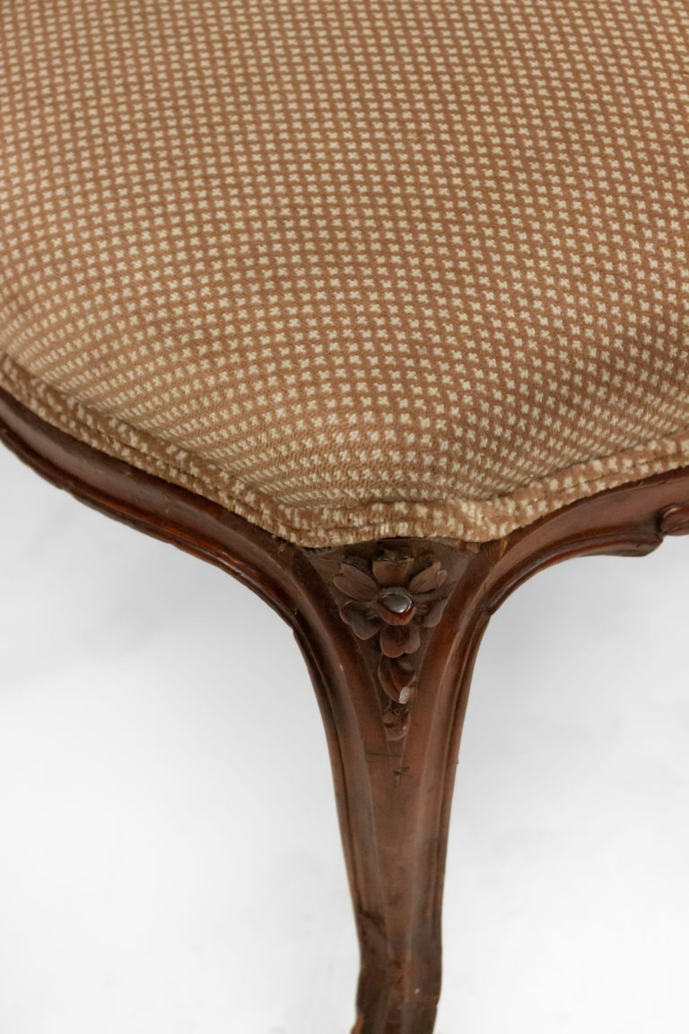 French Louis XV Walnut Side Chairs For Sale 12