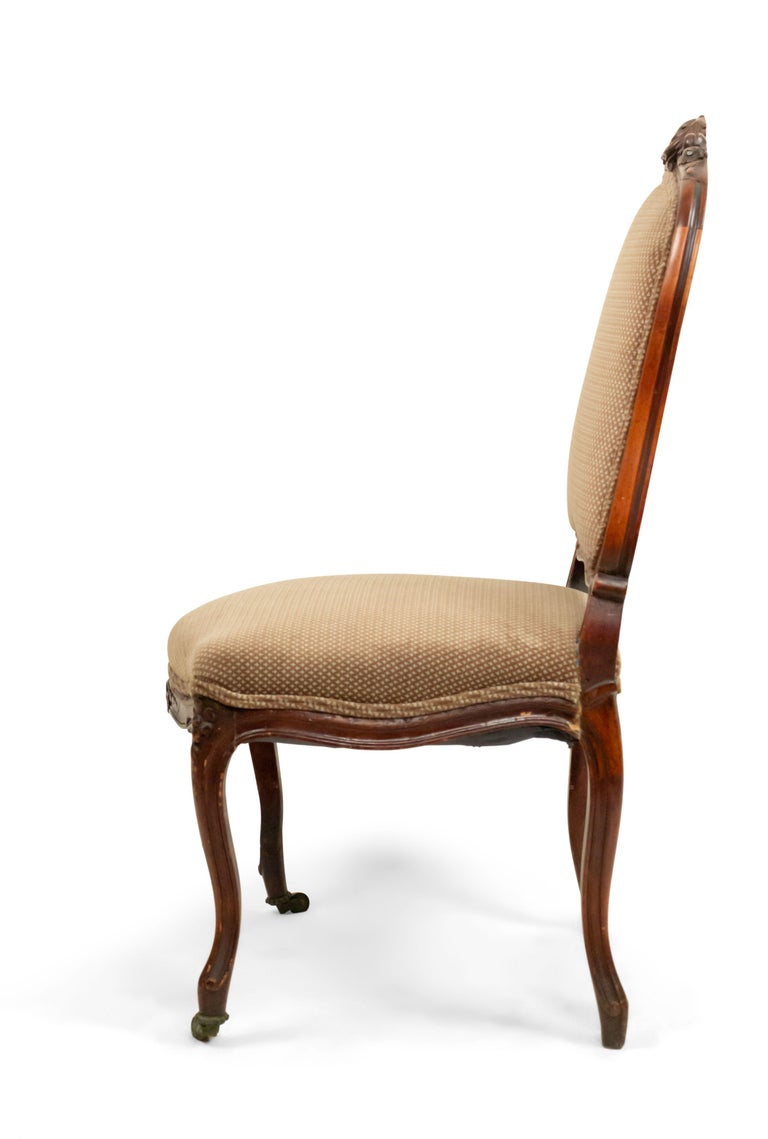 19th Century French Louis XV Walnut Side Chairs For Sale