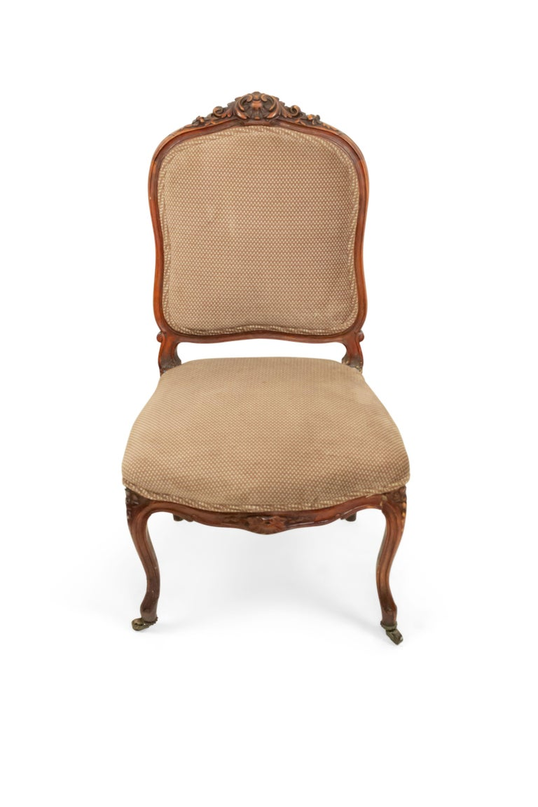 French Louis XV Walnut Side Chairs For Sale 2
