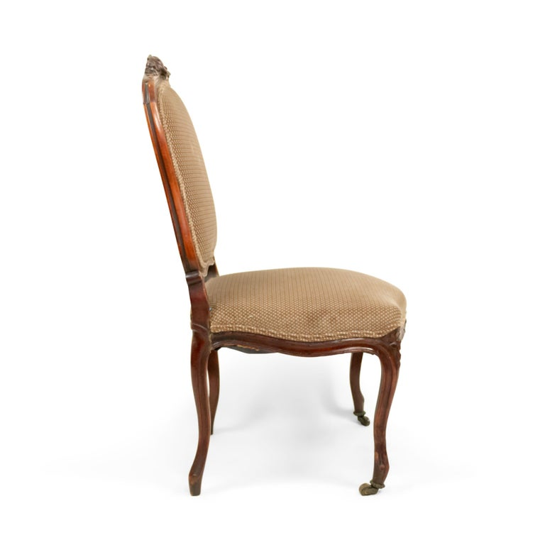 French Louis XV Walnut Side Chairs For Sale 4