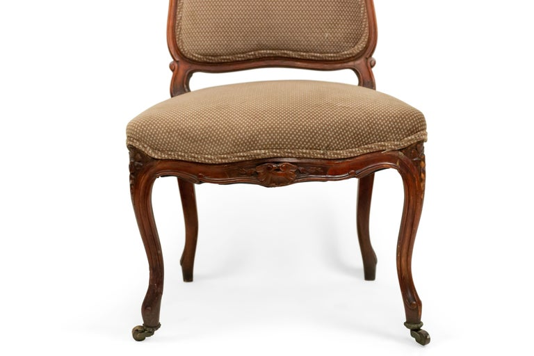 French Louis XV Walnut Side Chairs For Sale 5
