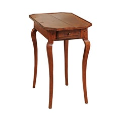 French Louis XV Walnut Side Table, Mid-18th Century