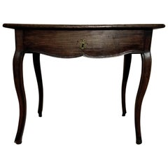 French Louis XV Walnut Table, Mid-18th Century