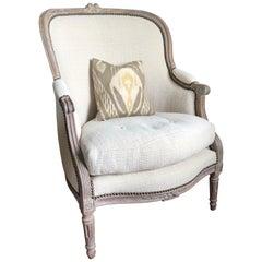 French Louis XVI Bergère Chair, circa 1790