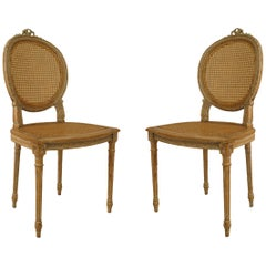 French Louis XVI Bleached Side Chairs
