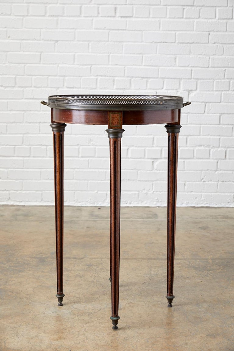 Hand-Crafted French Louis XVI Bouillotte or Drinks Table
