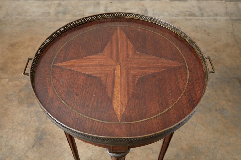 French Louis XVI Bouillotte or Drinks Table In Good Condition In Oakland, CA