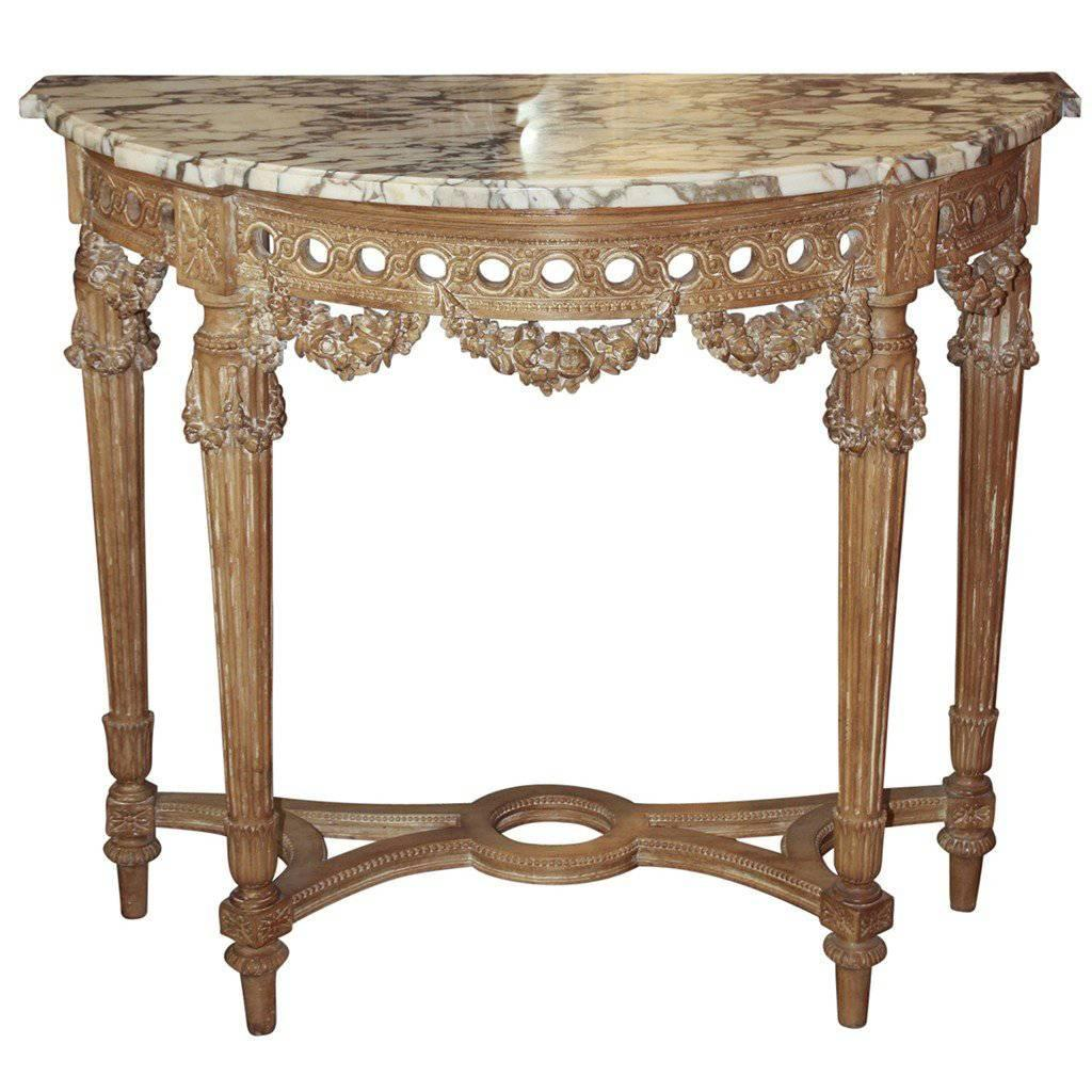 French Louis XVI Carved Console