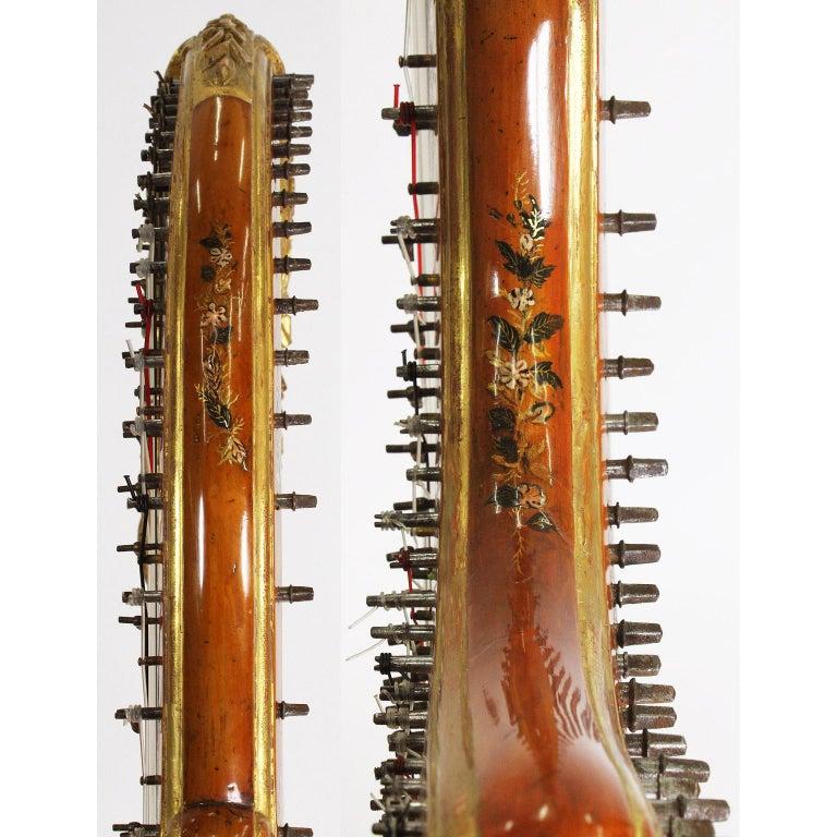 French Louis XVI Carved Gilt & Vernis Martin Harp by Jean-Henri Naderman, Paris For Sale 13