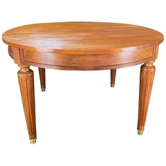 French Louis XVI Expandable and Versatile Walnut Dining Table