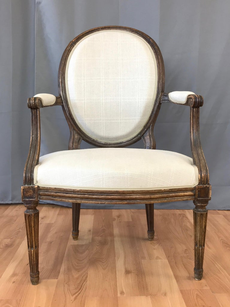 French Louis XVI Fauteuil by Martin Jullien, Mid-18th Century  In Good Condition For Sale In San Francisco, CA