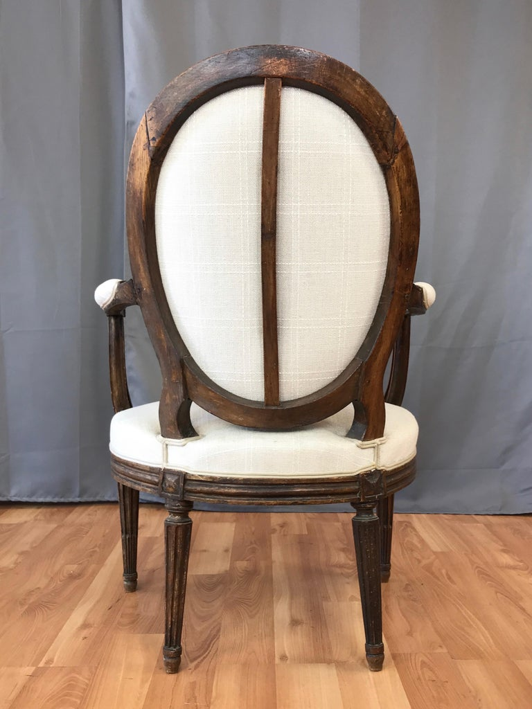 French Louis XVI Fauteuil by Martin Jullien, Mid-18th Century  For Sale 1