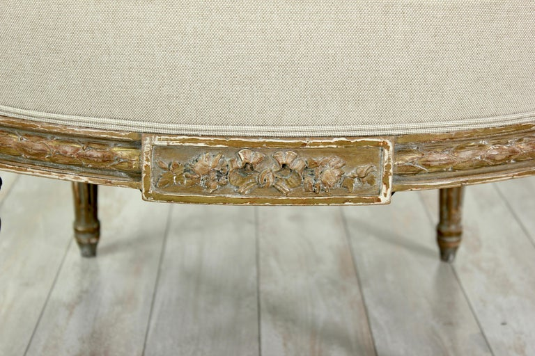 French Louis XVI Giltwood Chairs, a Pair For Sale 5