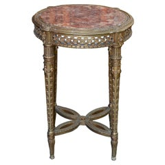 French Louis XVI Giltwood Side Table
